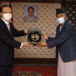 जापानी राजदूतले भेटे प्रधानमन्त्री देउवालाई, थप खोप दिने प्रतिवद्धता
